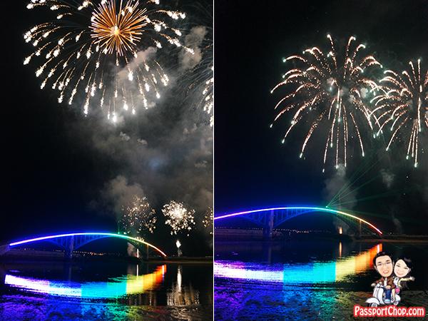 Penghu Fireworks Festival 澎湖海上花火節 over Rainbow Bridge 西瀛虹橋海堤觀賞煙火施放