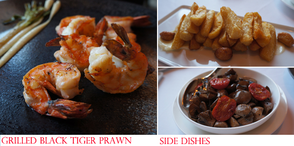 Grill 79 China World Summit Wing Shangri-La Grilled black tiger prawn with side dishes