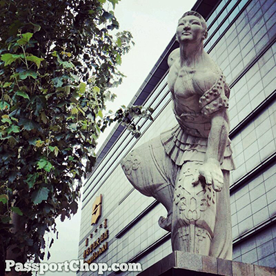 Mongolian Wrestler Statue Shangri-La Huhhot