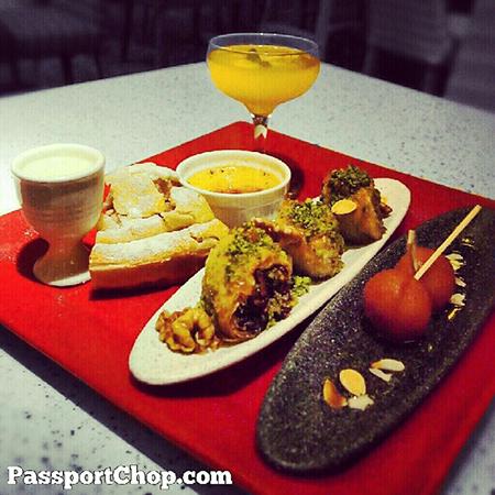 Dessert Sampler Platter of Baklava, Apple Pie & more @ShangriLaHotels Rasa Sentosa Casserole #LovingtheMoment @ Casserole