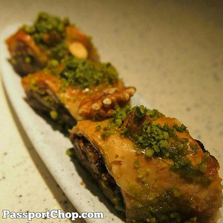 Big yummy Turkish snacks - Baklava - served @ShangriLaHotels Rasa Sentosa Casserole #LovingtheMoment @ Casserole