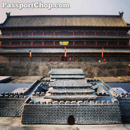 Xian City Wall Fortification Gate Model