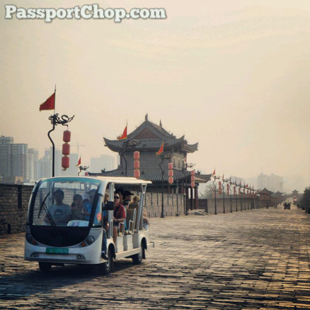 Xian City Wall Electric Car Tour Around Wall