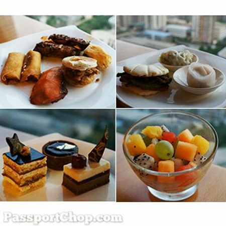 西安香格里拉大酒店 Shangri-la Xian Horizon Lounge Evening Canapes