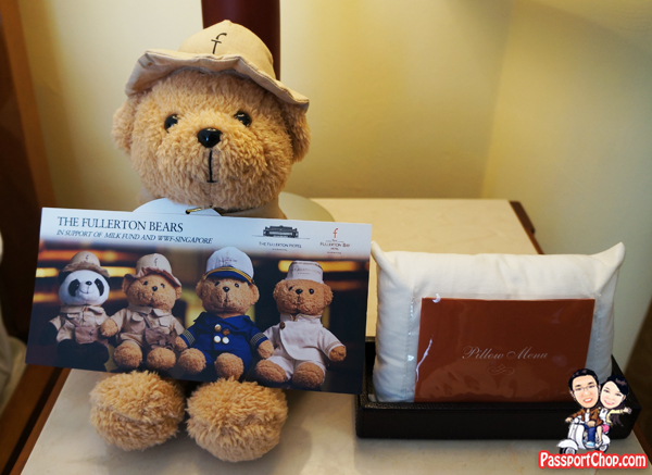 The Fullerton Hotel Singapore Fullerton Bear and Pillow Menu