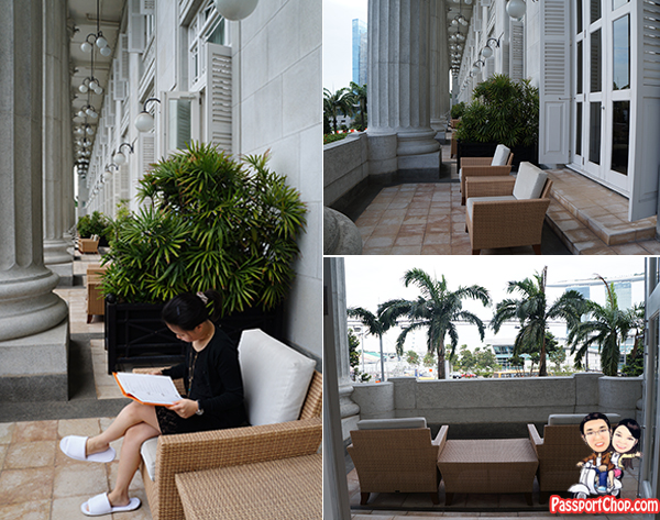 The Fullerton Hotel Singapore Loft Suite Balcony