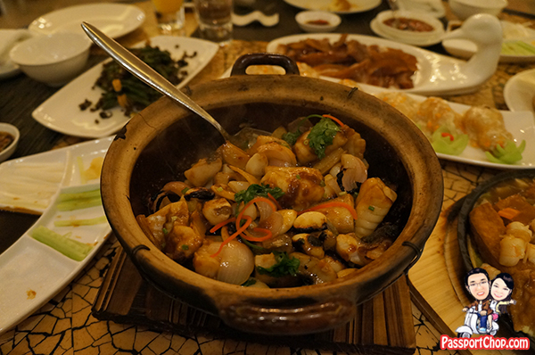 kerry Beijing claypot fish braised mandarin fish fillet with ginger garlic leek Horizon Restaurant