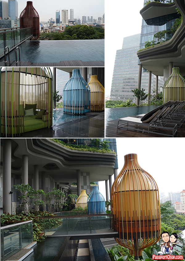 PARKROYAL on Pickering Infinity Pool Birdcage Design