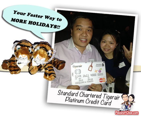 Tiger Air Standard Chartered Credit Card Sign-up