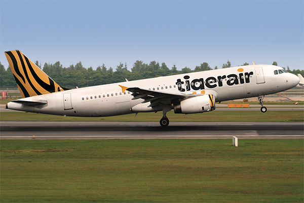 Tigerair Plane Takeoff