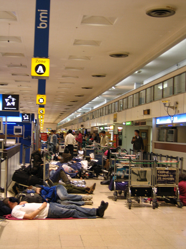 Airport Strike Sleep