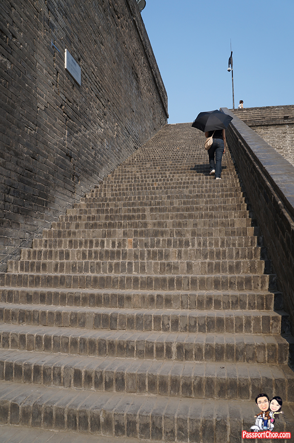 xian city wall stairs