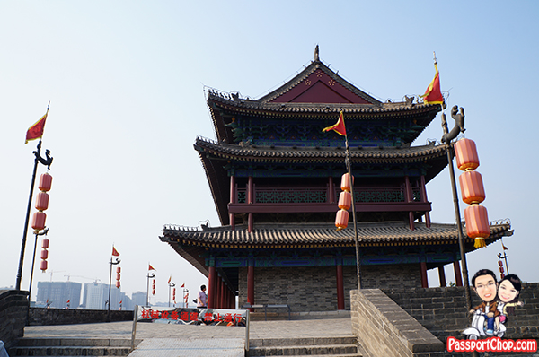 xian city wall tower