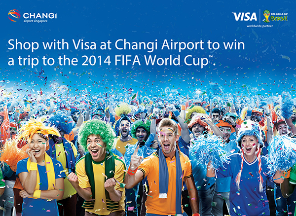 Spend Visa Changi Airport Win FIFA 2014 Brazil Tickets