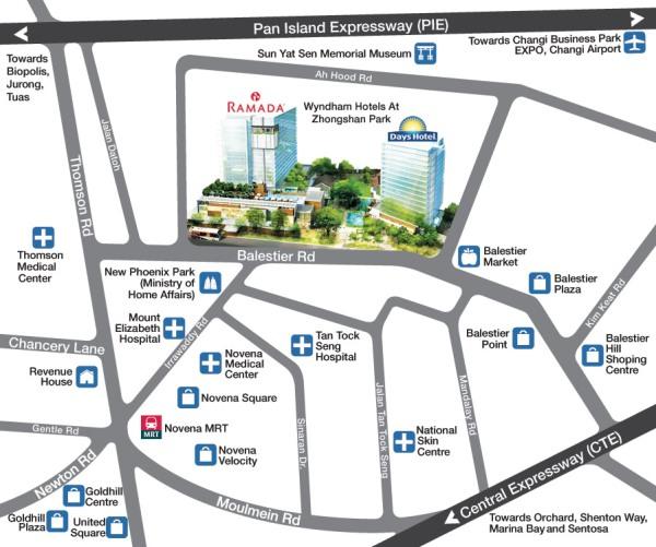 Singapore Ramada Map