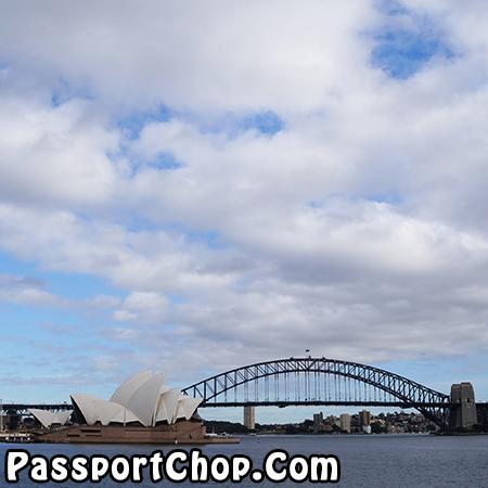 View of Sydney Harbour Bridge Macquarie's Chair
