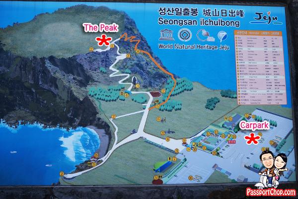 seongsan ilchulbong sunrise peak map trail hike