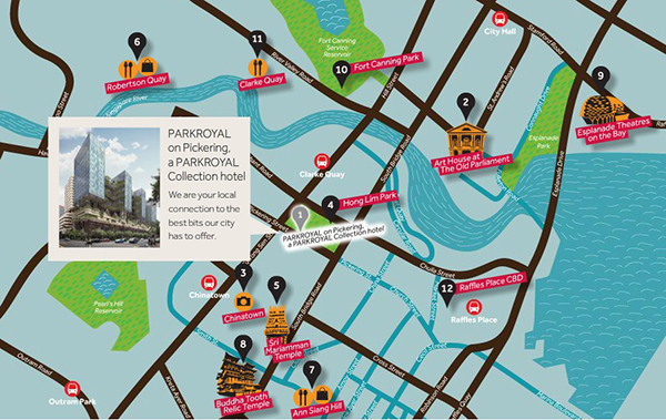 PARKROYAL on Pickering Map Attractions Tourist