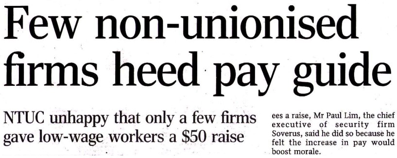 Unionised Pay Guide