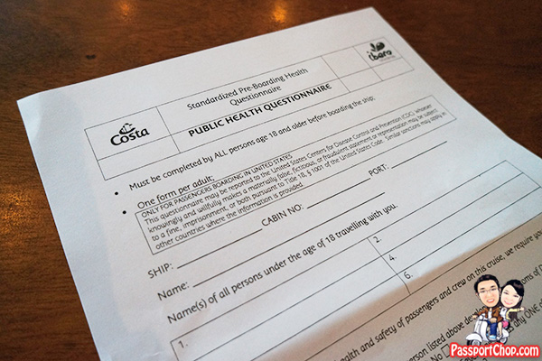 costa-cruise-public-health-questionnaire