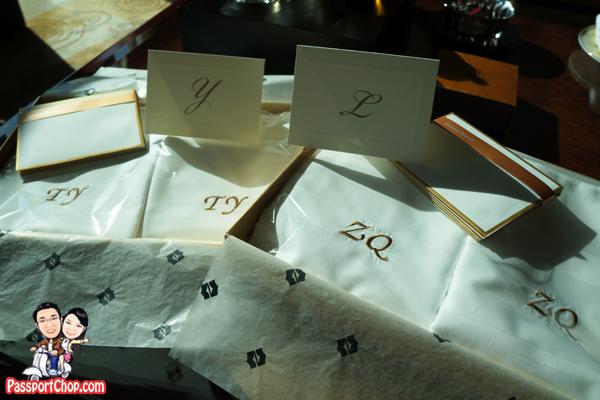 personalised-pillow-case-stationery-shangri-la pudong horizon club grand tower