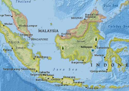 balikpapan-kalimantan-indonesia-map