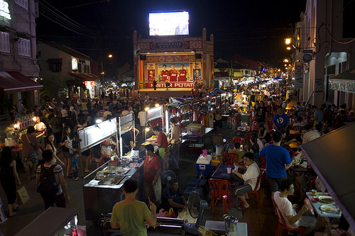 malacca melaka jonker walk weekend crowded