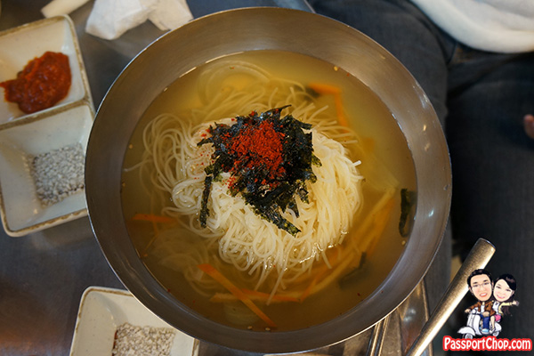 myeolchi guksu noodles vegetables dried anchovy broth jeju