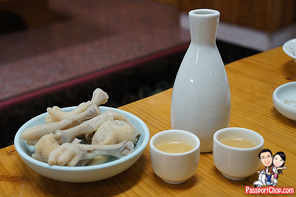 ginseng chicken alcohol soju drink