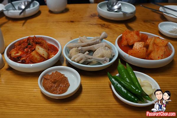 ginseng chicken kimchi side dishes jeju seogwipo restaurant