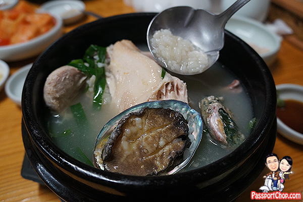 ginseng chicken soup abalone jeju recommended restaurant seogwipo
