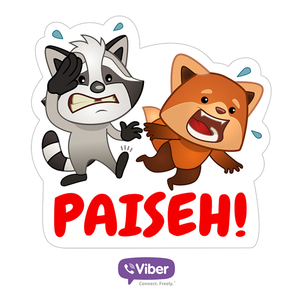 Paiseh viber sticker packs singaporre