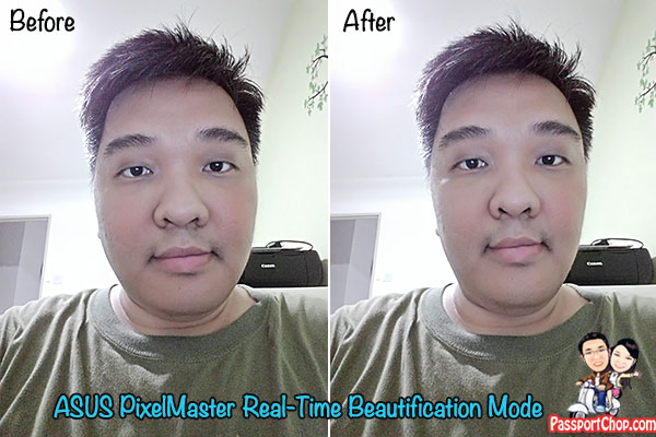 before and after auto beautification selfie mode asus zenfone 2 review
