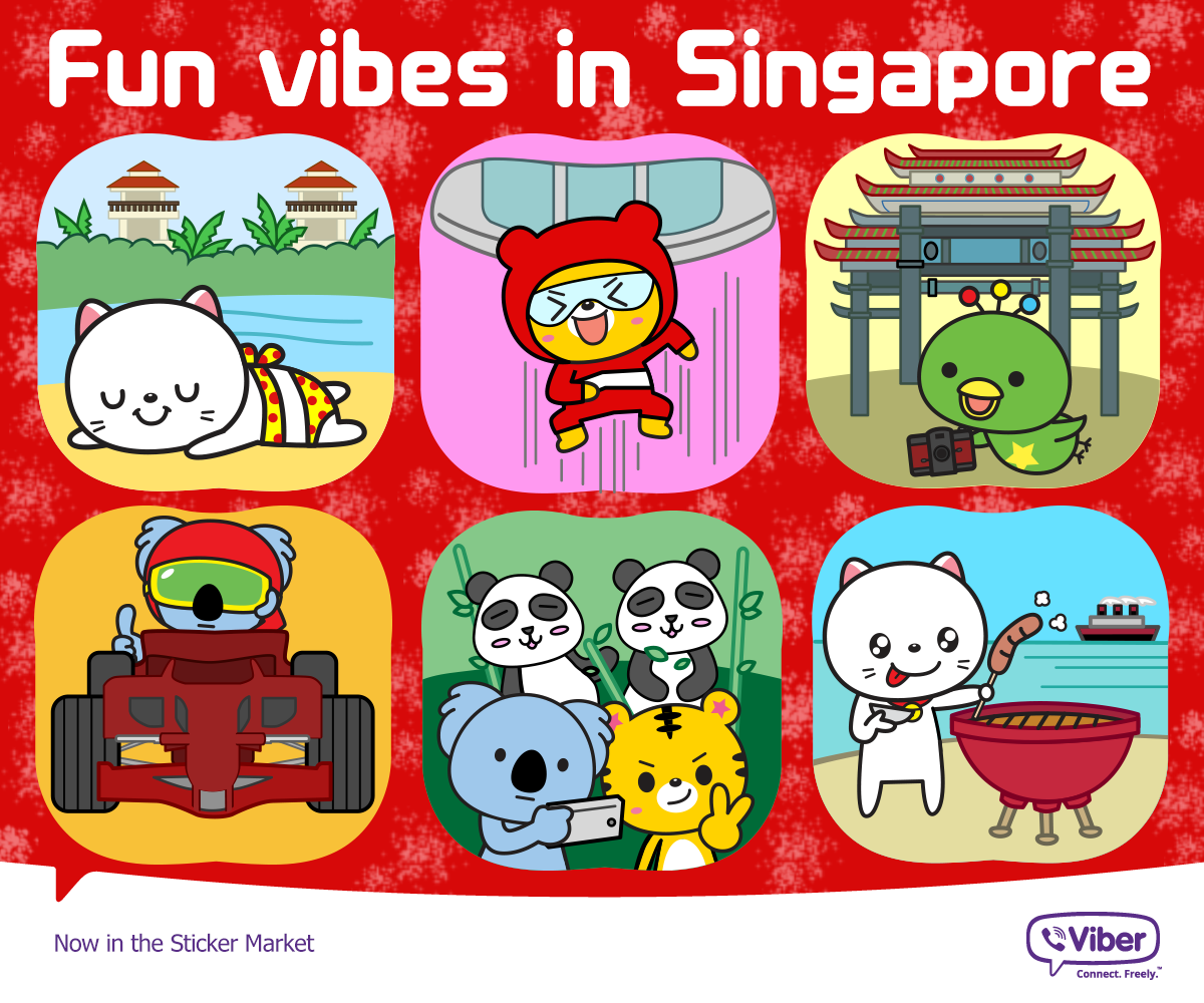 fun things singapore viber sticker packs