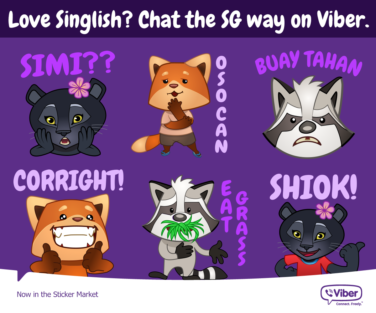 singlish viber sticker packs emoticons