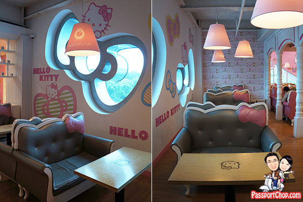 jeju hello kitty cafe restaurant interiors