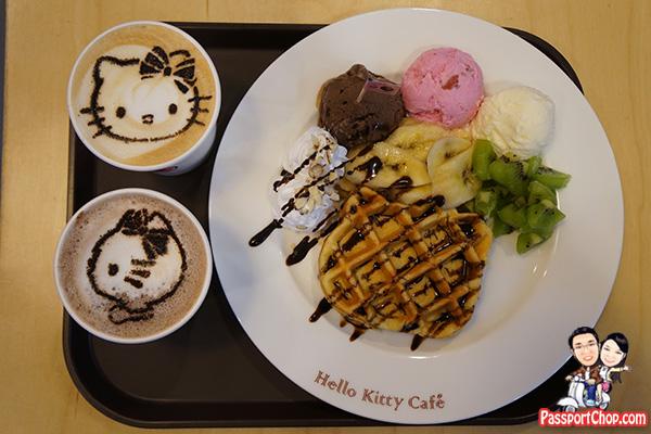 jeju hello kitty cappucino waffle theme