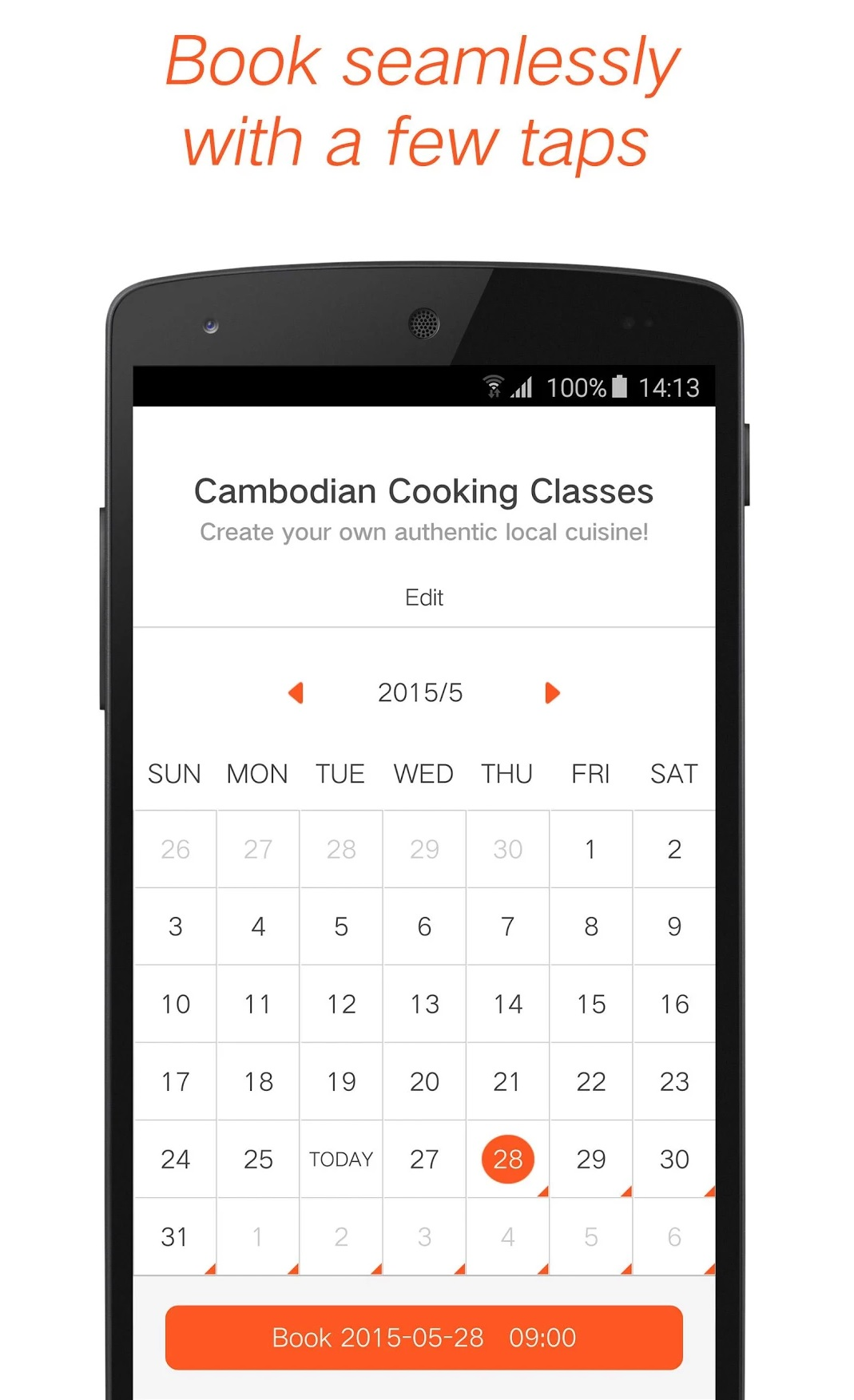 klook booking calendar simple process