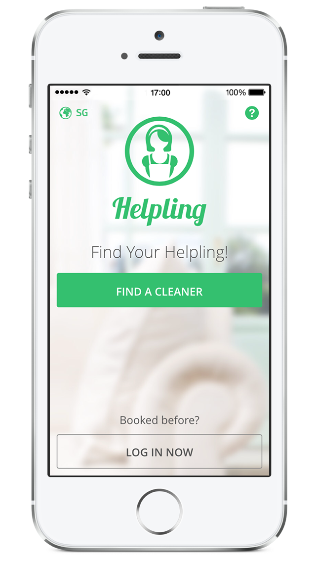 helpling singapore app cleaner booking