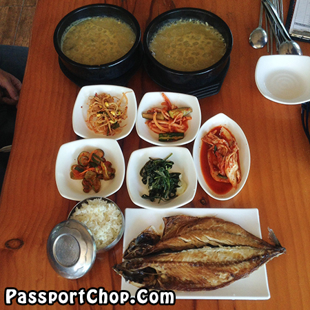 abalone-porridge-grilled-mackerel-udo-island