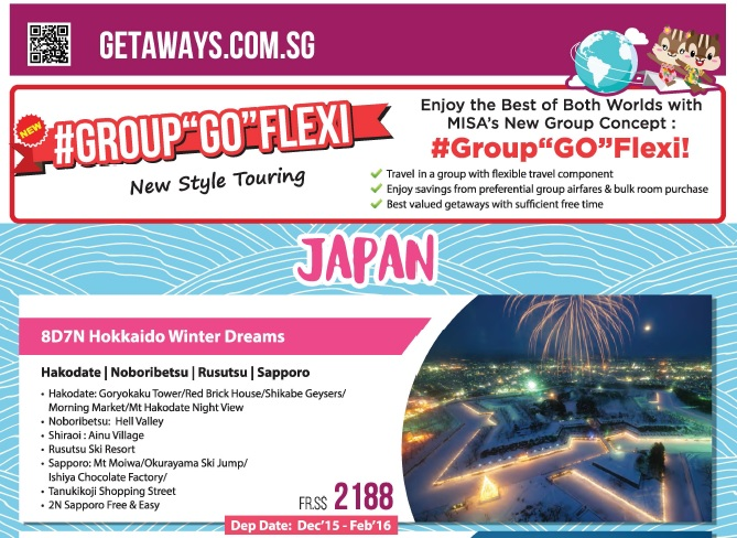 misa travel japan group go flexi package