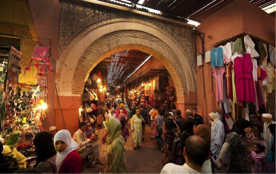 morocco souks of Marrakech