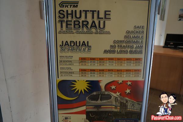 shuttle tebrau woodlands schedule train