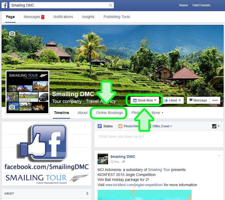 smailing bali facebook tour booking indonesia Yogyakarta