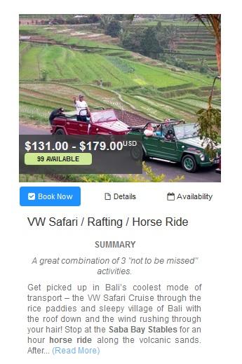 smailing bali vw safari rafting horse ride adventure tour