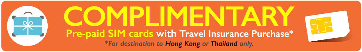 complimentary pre-paid sim cards travel insurance changi recommends