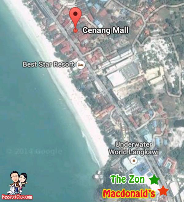 pantai cenang langkawi map attractions