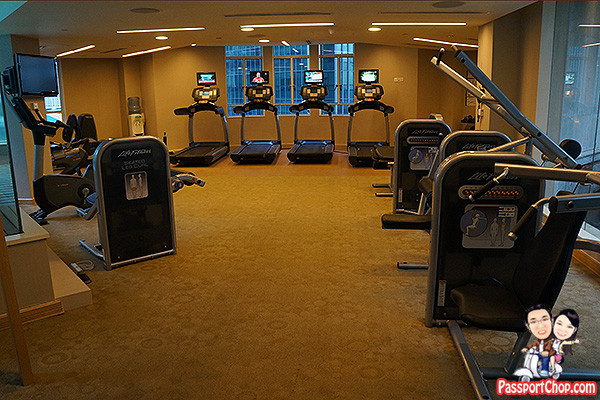 ascott raffles place well equipped gym