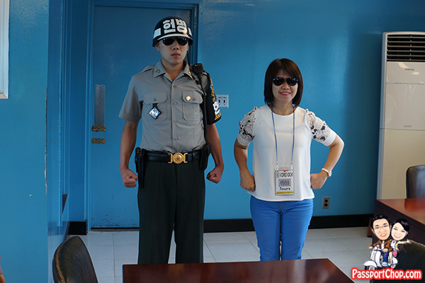 south korean guards dmz jsa tour karate modifed pose aggression