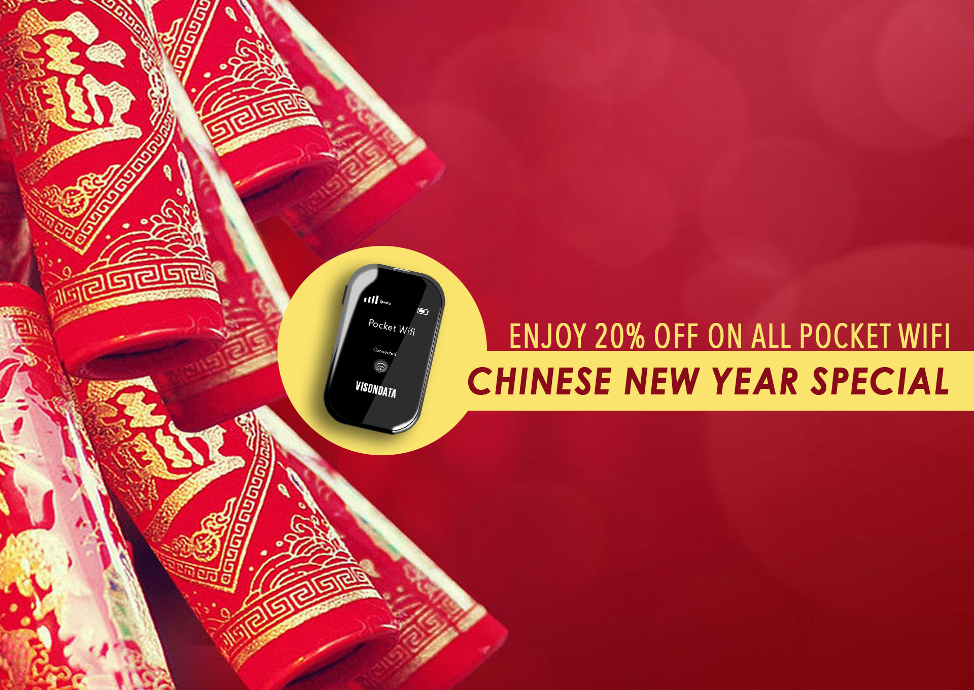 visondata mobile wifi overseas router chinese new year promotion